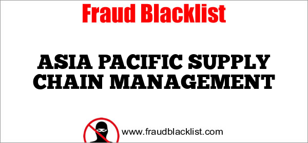 ASIA PACIFIC SUPPLY CHAIN MANAGEMENT