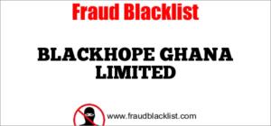 BLACKHOPE GHANA LIMITED