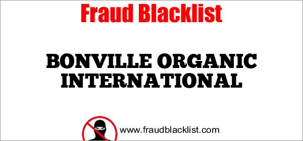 BONVILLE ORGANIC INTERNATIONAL