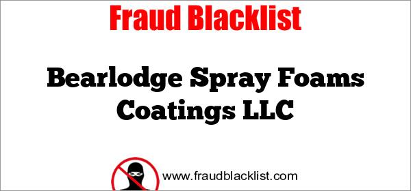 Bearlodge Spray Foams Coatings LLC