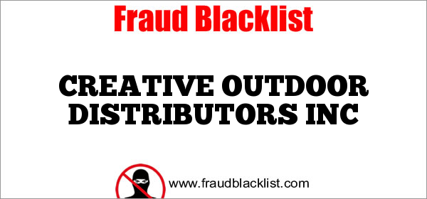 CREATIVE OUTDOOR DISTRIBUTORS INC