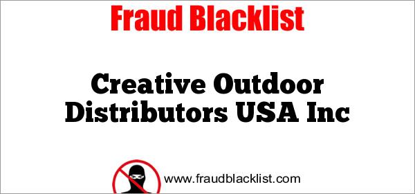Creative Outdoor Distributors USA Inc