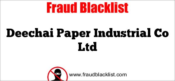 Deechai Paper Industrial Co Ltd