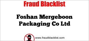 Foshan Mergeboon Packaging Co Ltd
