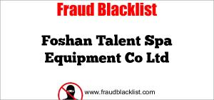 Foshan Talent Spa Equipment Co Ltd