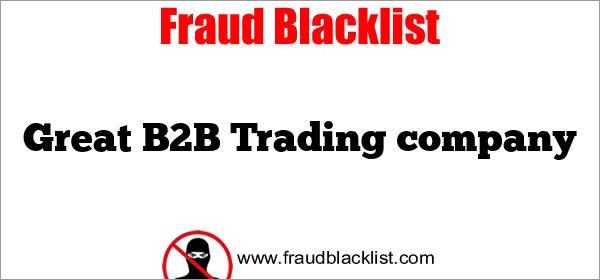 Great B2B  Trading company