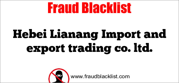 Hebei Lianang Import and export trading co. ltd.