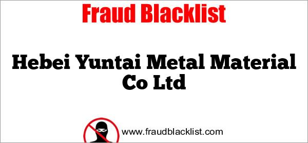 Hebei Yuntai Metal Material Co Ltd