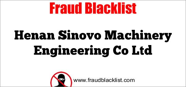 Henan Sinovo Machinery Engineering Co Ltd