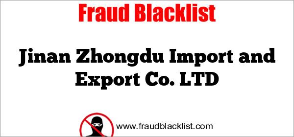 Jinan Zhongdu Import and Export Co. LTD
