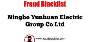 Ningbo Yunhuan Electric Group Co Ltd