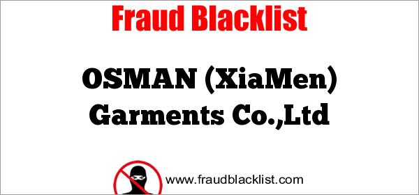OSMAN (XiaMen) Garments Co.,Ltd