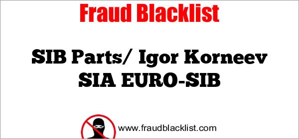 SIB Parts/ Igor Korneev SIA EURO-SIB