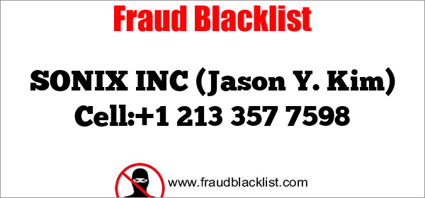SONIX INC (Jason Y. Kim) Cell:+1 213 357 7598