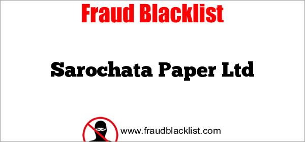 Sarochata Paper Ltd