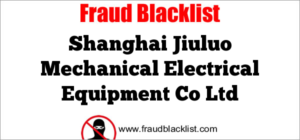 Shanghai Jiuluo Mechanical Electrical Equipment Co Ltd