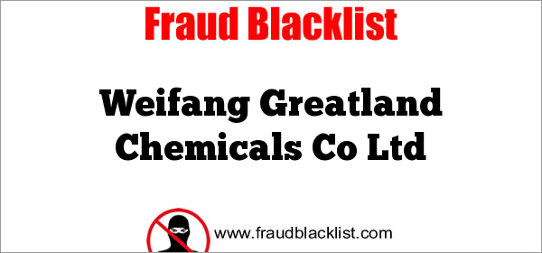 Weifang Greatland Chemicals Co Ltd