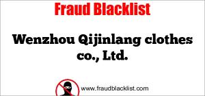 Wenzhou Qijinlang clothes co., Ltd.