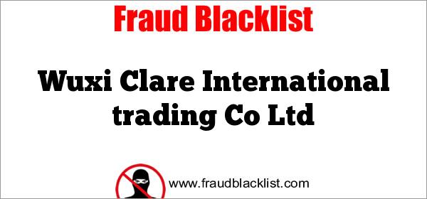 Wuxi Clare International trading Co Ltd