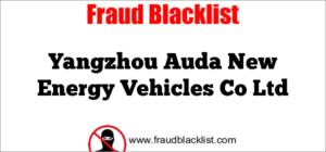 Yangzhou Auda New Energy Vehicles Co Ltd